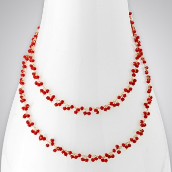 Red Quartz 14KTGF Necklace
