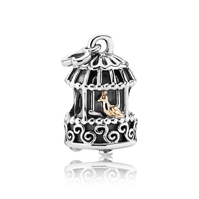 342923-PANDORA Song Bird with 14K Charm RETIRED