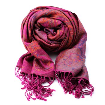 Hot Pink and purple silk scarf 340036