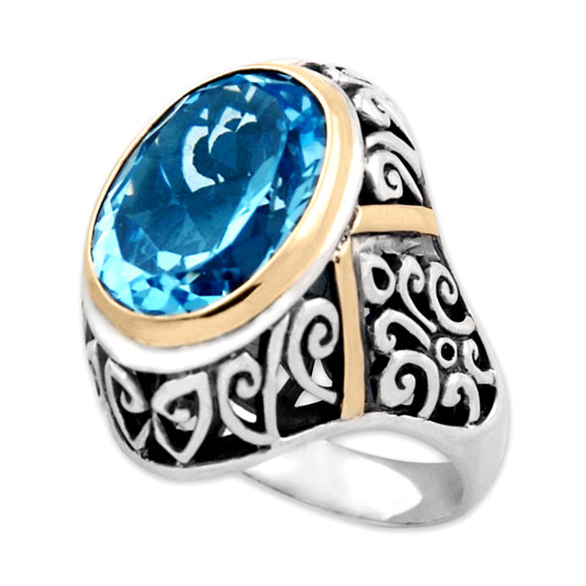 319454-Blue Topaz Ring