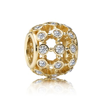 PANDORA 14KT In The Spotlight with Clear CZ Charm-348035
