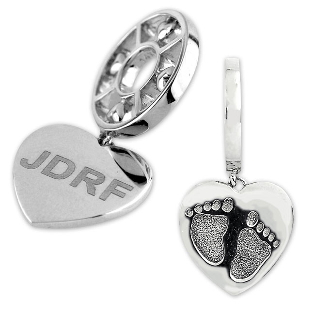 332603-Storywheels JDRF Dangle Sterling Silver Wheel