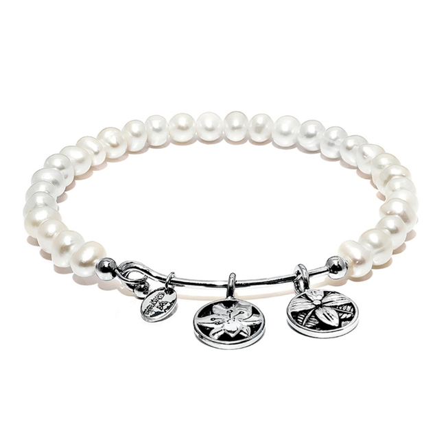 345092-White Pearl BLOSSOM Bangle - Chrysalis Guardian Collection