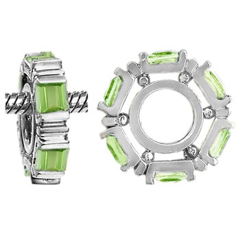 Storywheels Peridot Small Princess Cut 14K White Gold Wheel RETIRED LIMITED QUANTITIES!-265652