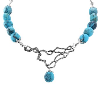 Turquoise Branch Out Necklace-235-511