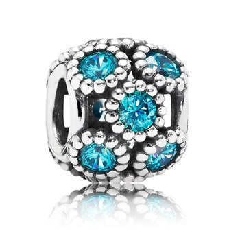 PANDORA Studded Lights with Teal CZ Openwork Charm-347070
