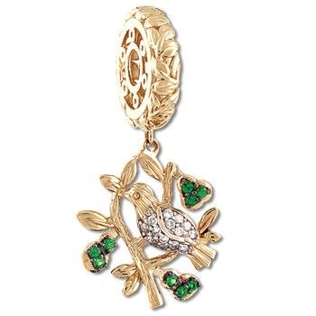 Storywheels Partridge in a Pear Tree Dangle 14K Gold Wheel LIMITED EDITION ONLY 2 LEFT!-335560
