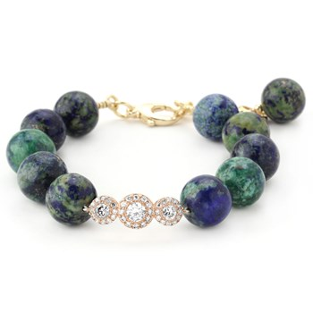 Lollies Azurite & Malachite Bracelet 344587