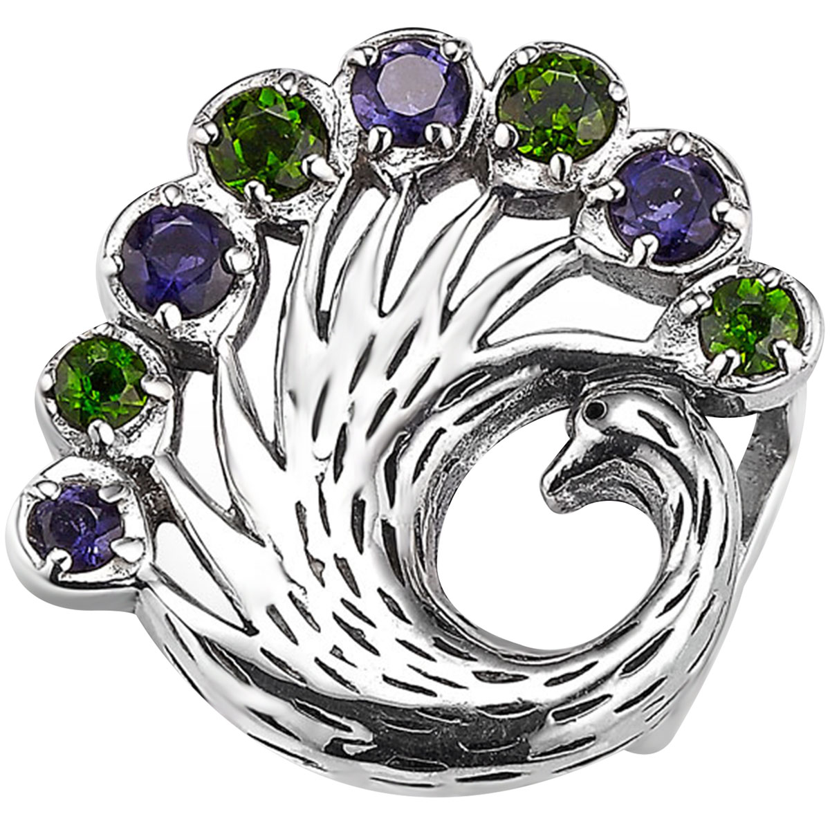 338689-Lori Bonn Proud as a Peacock Slide Charm LIMITED EDITION ONLY 5 LEFT!