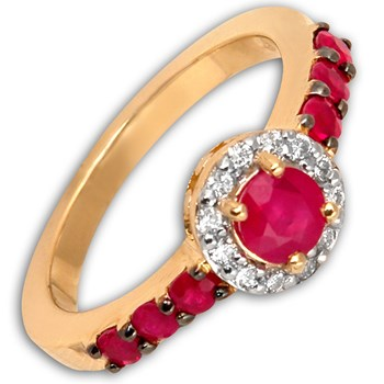 292849-Ruby & Diamond Ring