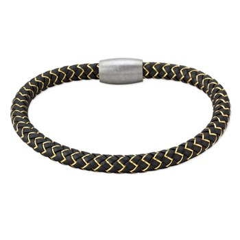 343276-Yellow Copper & Rubber Bracelet