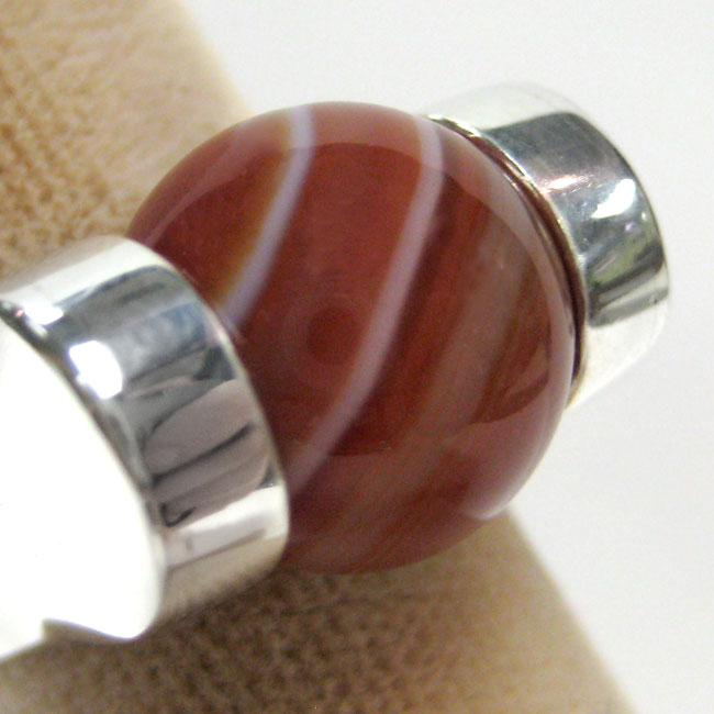 277495-277495-RED STRIPED AGATE BALL-ei-$15.00 ONLY 1 AVAILABLE!