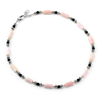 Pink Opal Necklace-235-515