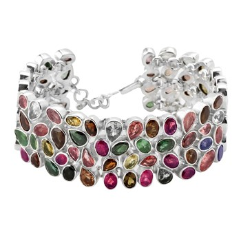 347395-Multi-Colored Tourmaline Bracelet