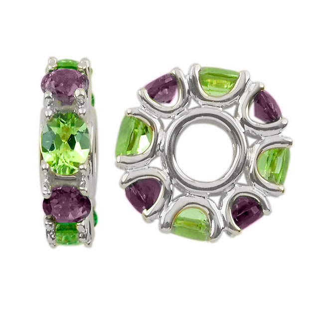304337-Storywheels Amethyst & Peridot 14K White Gold Wheel ONLY 1 AVAILABLE!