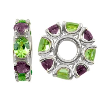 Storywheels Amethyst & Peridot 14K White Gold Wheel ONLY 1 AVAILABLE!-304337