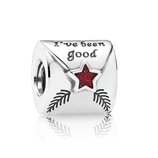 802-1737-PANDORA Letter to Santa with Red Enamel Charm
