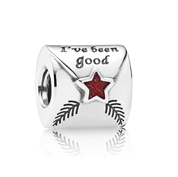 PANDORA Letter to Santa with Red Enamel Charm-802-1737