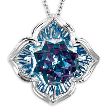 Galatea DavinChi Cut Blue Topaz Necklace-334076