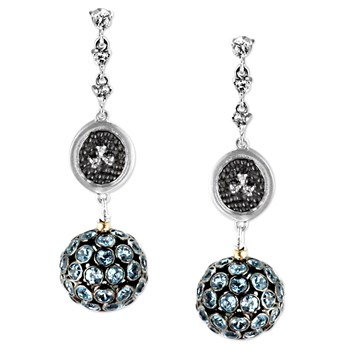 346819-Blue Topaz Earrings