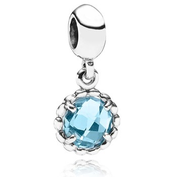 PANDORA Cool Breeze with Blue Topaz Dangle-341726