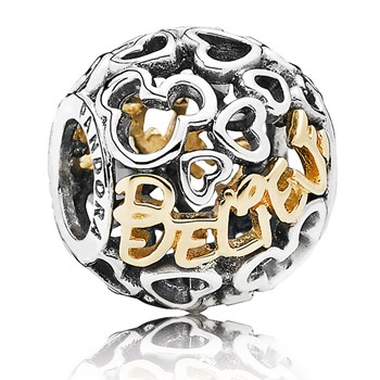 PANDORA Disney Believe with 14K Charm RETIRED 802-1249