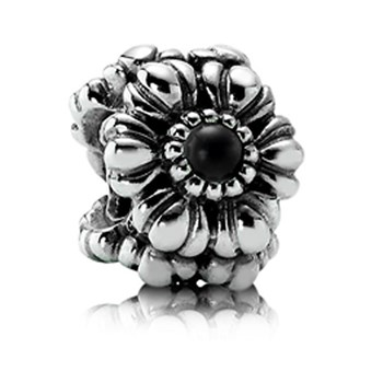 337217-PANDORA Birthday Bloom June with Grey Moonstone Charm RETIRED