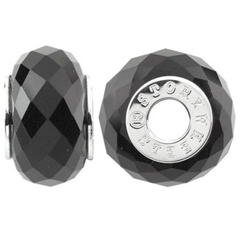 333785-Storywheels Faceted Onyx Sterling Silver Wheel ONLY 3 AVAILABLE!