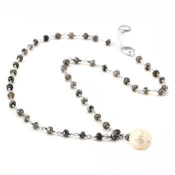 Pearl & Labradorite Necklace-347616