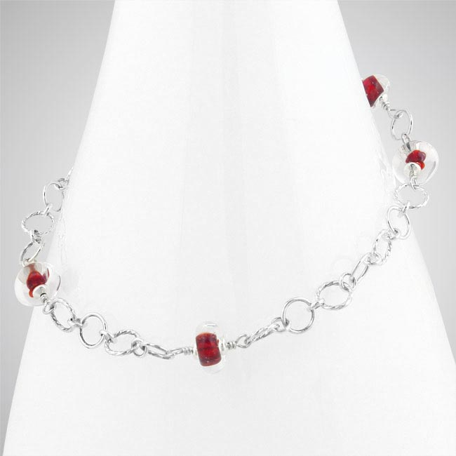 273978-Red Glass Anklet