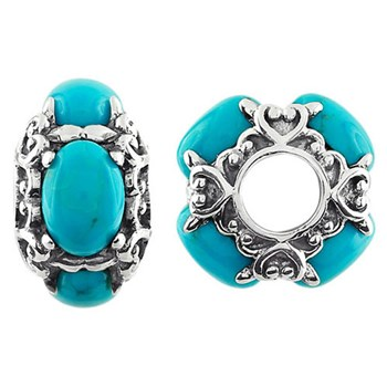 330787-Storywheels Turquoise Sterling Silver Wheel