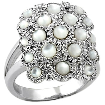 White Luna Mosaic Ring-345016