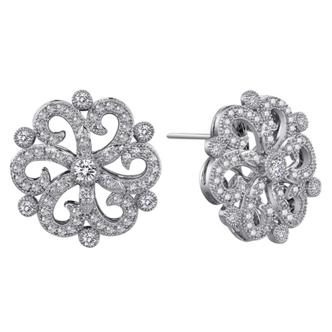 341042-Victorian CZ Earrings
