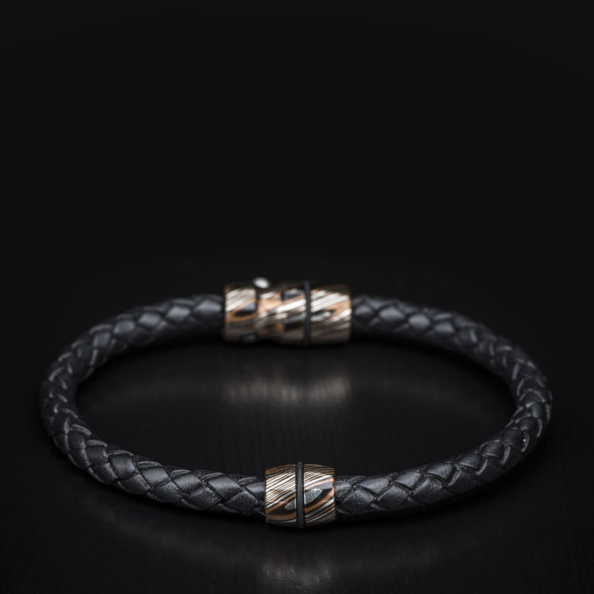 611-89-William Henry Braided Leather Bracelet