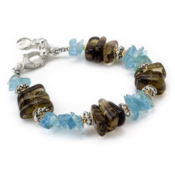 Aquamarine & Smokey Quartz-240-3433