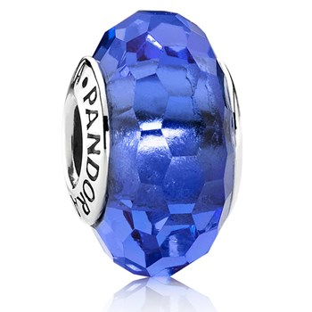 PANDORA Fascinating Blue Faceted Murano Glass 341641