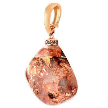 Copper in Quartz Pendant-343406