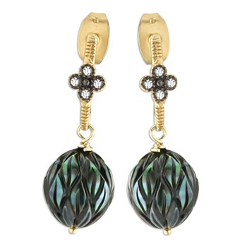 349267-Topaz & Black Pearl Earrings