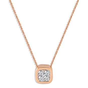 Rose Gold Mini Irene Necklace-348326