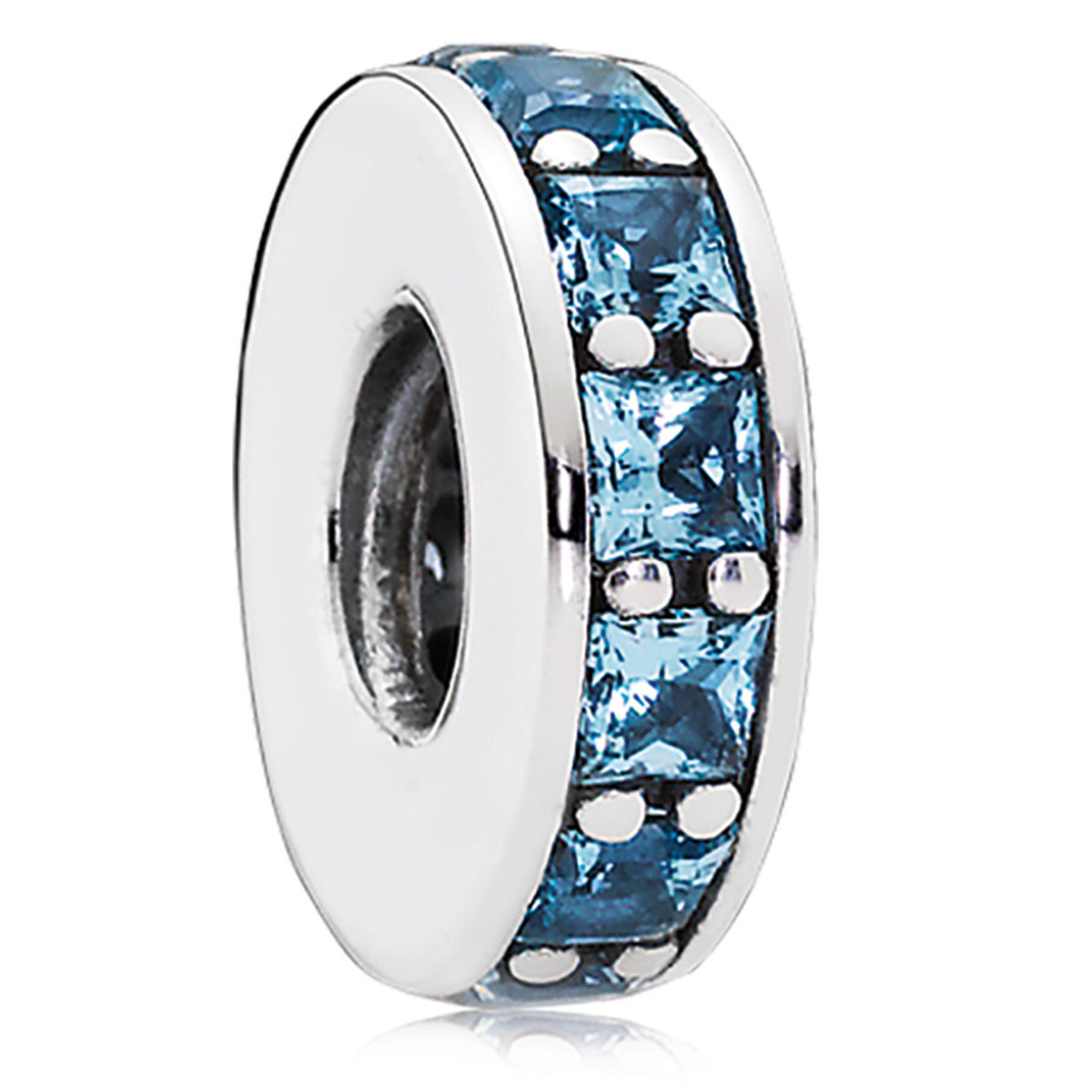 802-3124-PANDORA Eternity with Sky-Blue Crystal Spacer