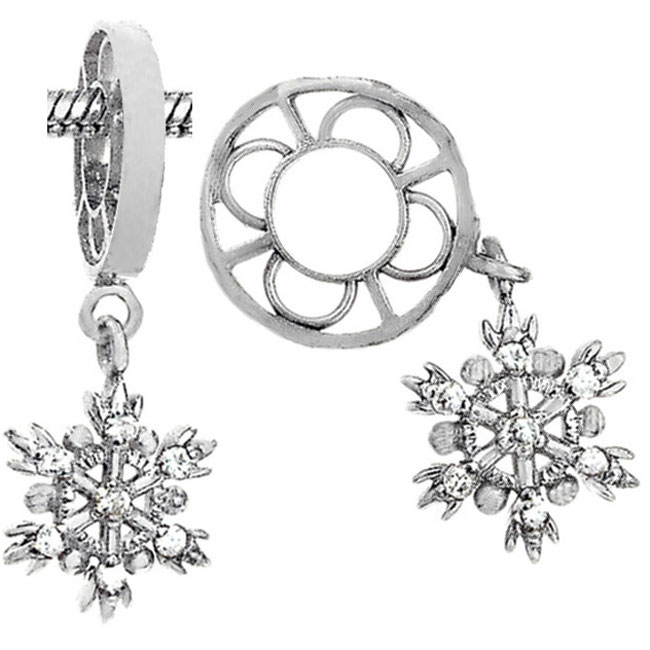 336828-Storywheels Diamond Snowflake Dangle Sterling Silver Wheel