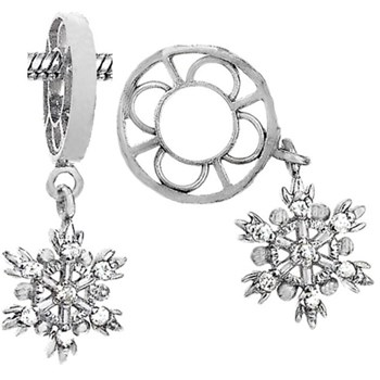 Storywheels Diamond Snowflake Dangle Sterling Silver Wheel-336828