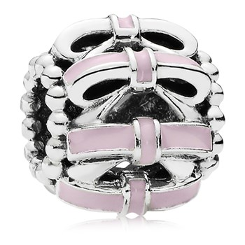 PANDORA Sweet Sentiments with Pink Enamel Charm *PANDORA Shop in Shop Exclusive* 802-3145