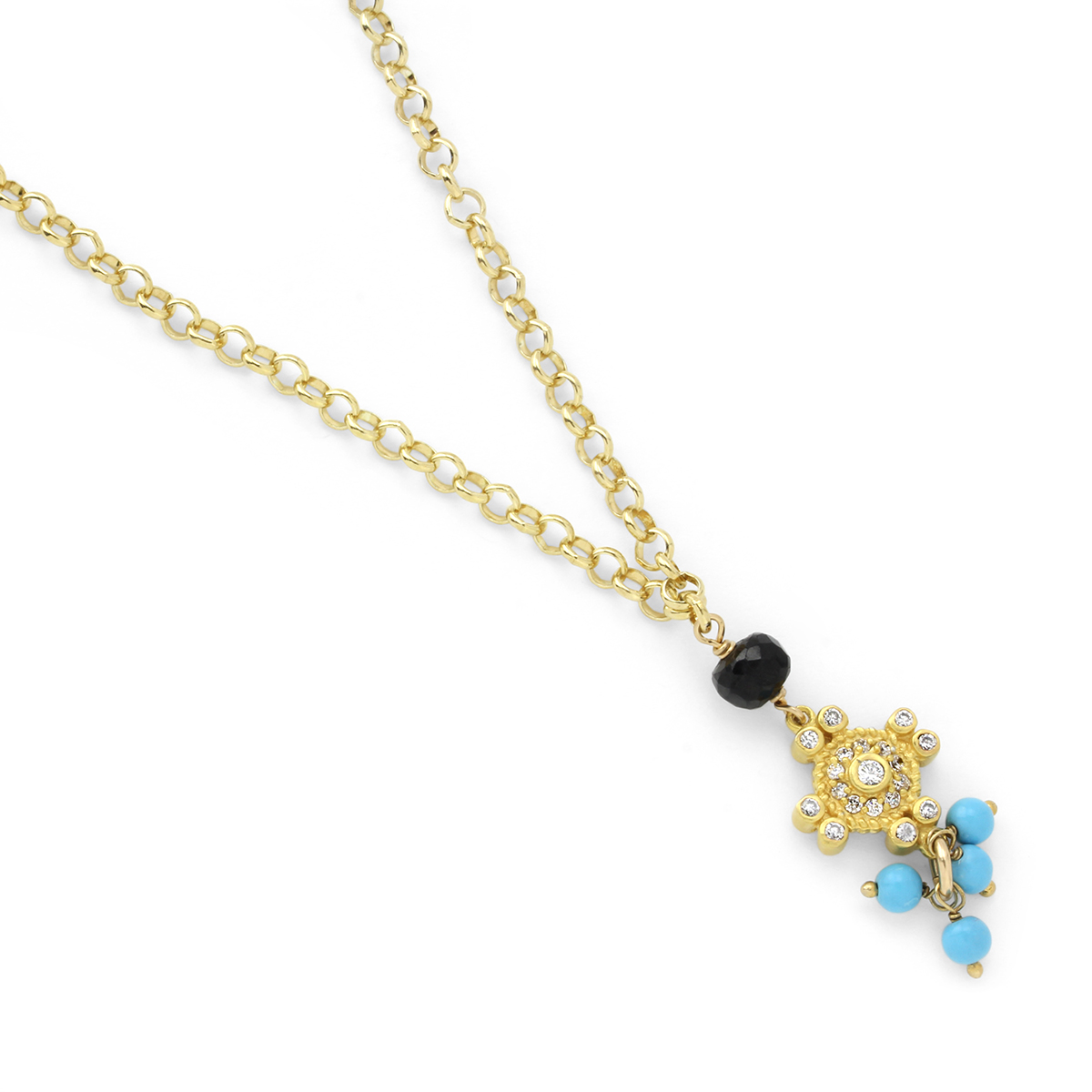 Topaz & Turquoise Necklace-235-517