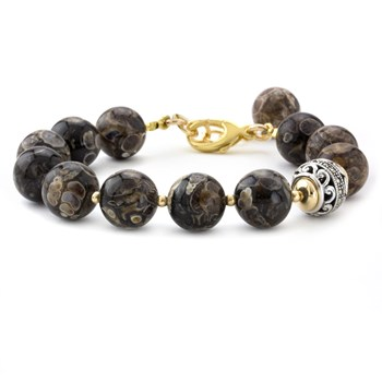 Lollies Turritella Agate Bracelet