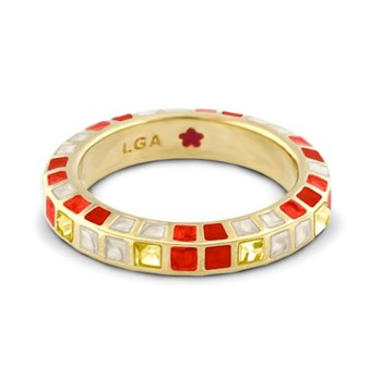 Red & White 'Stackable Fiesta' Ring