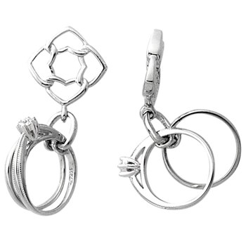 Storywheels Diamond Rings Dangle 14K White Gold Wheel ONLY 4 AVAILABLE!-268646