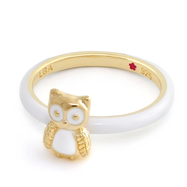 342608-White 'Layers of Love' Owl Ring