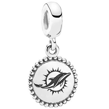 PANDORA Miami Dolphins NFL Hanging Charm-346557