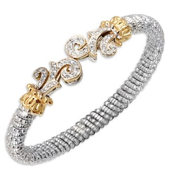 Brocade Tip Diamond Bracelet-338592